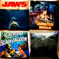 Jaws, Creature and more 18x18 Pillowcases Bunker Hill, 25413