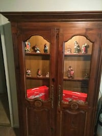 brown wooden display cabinet Stone Mountain, 30087