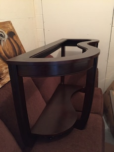 black wooden console table fram e