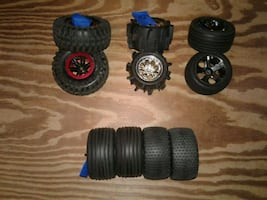 RC WHEELS AND TIRES 1/10 SCALE 12mm