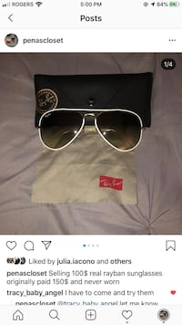 Real rayban sunglasses unisex Laval, H7R 4V4