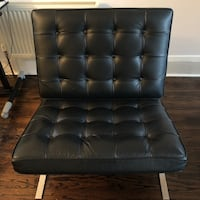 Designer leather Barcelona chair used - fair condition Toronto, M5R 1Y6