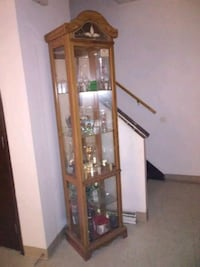 brown wooden framed glass display cabinet Canton, 44705
