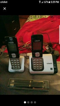 two black and gray Vtech wireless telephones West Warwick, 02893