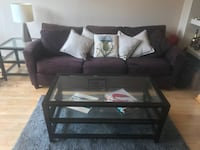 Sofa, Coffee Table and sidetable, rug and lamp Chicago