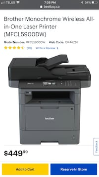 Brother Monochrome Wireless All-in-One Laser Printer (MFCL5900DW)