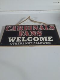 Cardinals Fans Welcome signage