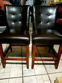 2 leather high table chairs Hallandale Beach, 33009