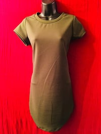 "Brand New (Wet Seal) ""Medium""•Olive Green•Stretchy Material Dress With Tags($10) Merced, 95341"
