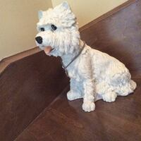 White dog figurine