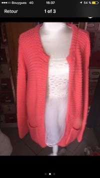 cardigan en maille câble rose Wingles, 62410