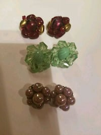 3 Pairs of Vintage Clip On Earrings Morgan Hill, 95037