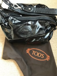 Tod's convertible patent leather hobo bag