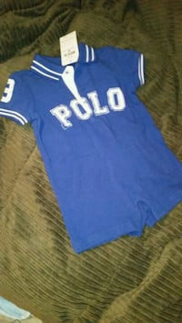 Blue Polo Romper (NEW) Yonkers, 10701