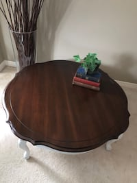 French Provincial Coffee Table with Custom Protective Glass