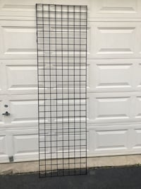 """Black Metal 3"""" Gridwall Panels 2'x7' Store Display Several Available $20 Each Manassas"""