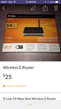 D-link wireless g router brand new! Kitchener, N2R 1L8