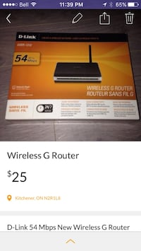 D-link wireless g router brand new!