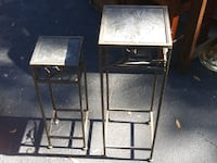 two brown wooden side tables Gainesville, 32607