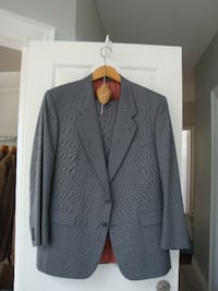 Men's gray suit.