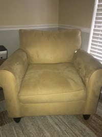 brown suede sofa chair with ottoman Phenix City, 36870