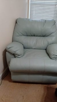 Sea Green Leather Recliner