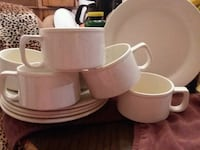 white ceramic mug and saucer set Fairfax, 22032