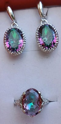 Sterling silver mystic topaz ring and earrings Baltimore, 21224