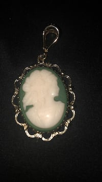 green and white ceramic pendant Teaneck, 07666