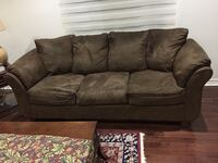 Brown suede 3-seat sofa + Love Seat from Leon's Brampton, L6Y 4K1