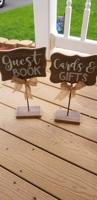 Wedding guest book and gifts signs  Monmouth County, 07722