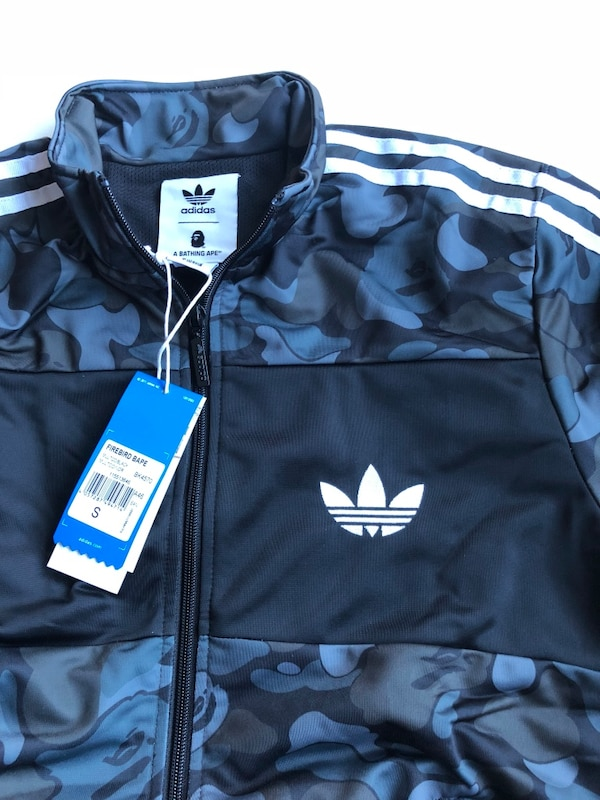 736b54d95996 Used Bape x adidas firebird blue camo jacket size small for sale in ...