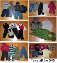 2T Boy Clothing Lot 3 (Take 38 Pieces for $50) Mississauga