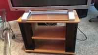 TV Stand with Wheels,Shelves, and DVD Rack Allen, 75002