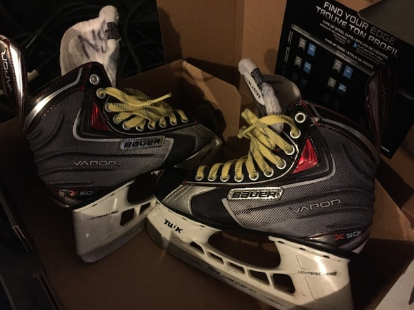9fbc0ef9136 Used Bauer Vapor X50 Youth Hockey Skates - Size 6 for sale in Oak ...