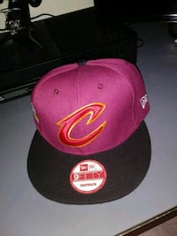 pink and black 9Fifity Cleveland Cavaliers flat-brimmed cap