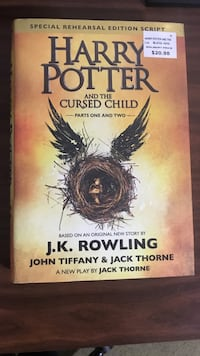 Harry Potter and the cursed child by J.K. Rowling book Grantsville, 21536