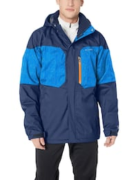 Columbia Men's Alpine Action Ski Jacket, Coll Navy, Azul Matrix, Large  Toronto