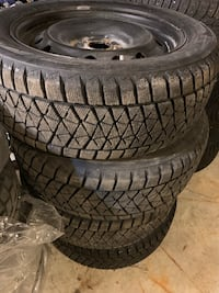 Winter tires with rims 235/55R18