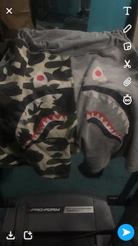 gray, black, green, and red camouflage bape poncho screenshot Laurel, 20708