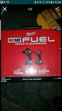 Milwaukee m18 fuel drill combo with case Los Angeles, 90038