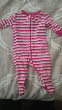 pink and white stripe footie pajama New Westminster, V3M 3S2