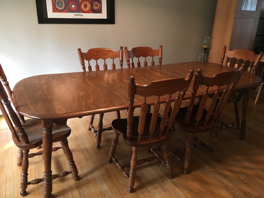 Superbe ER Buck Solid Maple Dining Room Table U0026 Chairs