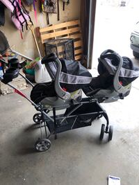 Double stroller and car seats Eden Prairie, 55344