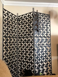 "3 Panel Black Iron Screen - Screen is 6 ft in height and each panel is 18"" wide Bowie, 20716"