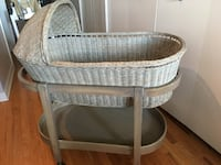 RH Heirloom Wicker Baby Bassinet