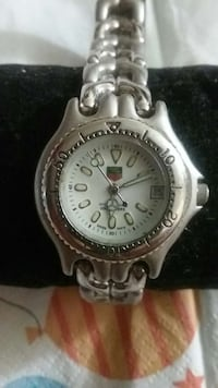 TAG Heuer professional silver round analog watch