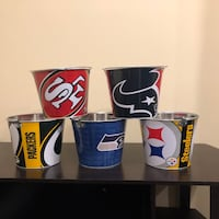 NFL tin bucket for beer or chips 10 each New York, 10463