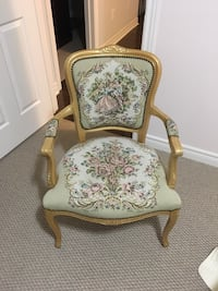 white and brown floral padded armchair Bradford West Gwillimbury, L3Z 0C6