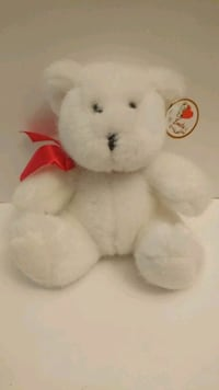 "Emily Collectibles 7"" White Bear Bowtie Gift Tag Rosemead, 91770"
